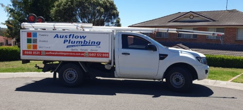 ausflow plumbing service vehicle